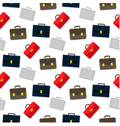 cartoon business suitcase seamless pattern on vector image