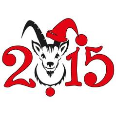Chinese symbol goat 2015 vector image