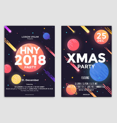 christmas flyers templates vector image