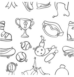 Collection of sport equipment vector