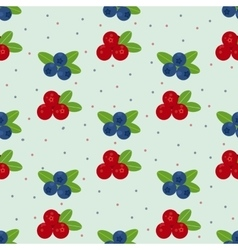 Cranberry and blueberry seamless pattern 1 vector image vector image