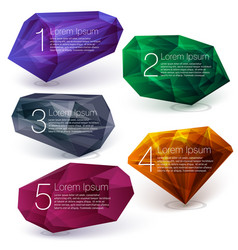 crystal ifographics template vector image