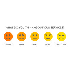 customer service satisfaction and review concept vector image