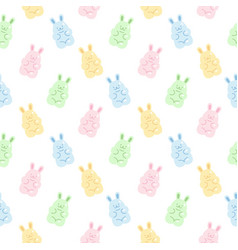 cute gummy rabbit jelly candy seamless pattern vector image
