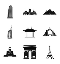 Detect icons set simple style vector
