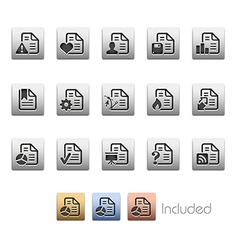 Document Icons 2 vector image