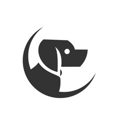 dog abstract logo concept icon vector image