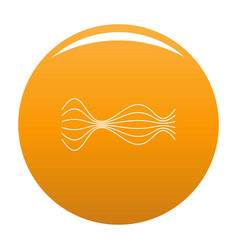 Equalizer music radio icon orange vector