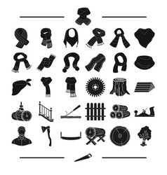 Equipment textiles clothing and other web icon vector
