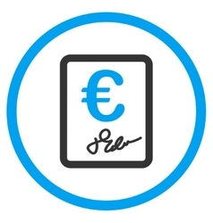 Euro Contract Rounded Icon vector