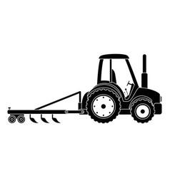 farm tractor with rake vector image