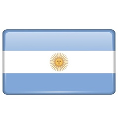 Flags Argentina in the form of a magnet on vector