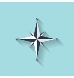 Flat compass web symbol vector image