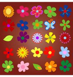 Flowery vector
