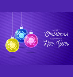 futuristic merry christmas and happy new year vector image