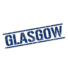 Glasgow blue square stamp vector