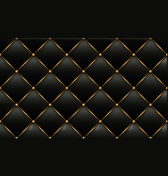 gold and black leather texture background vector image