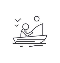 good fishing line icon concept good fishing vector image