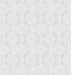 Gray merging archimedean spirals with continues vector