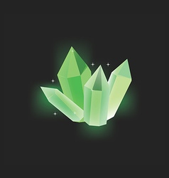 Green crystal icon vector image