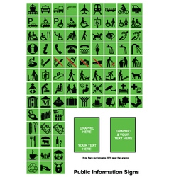 Green Public Information signs vector image