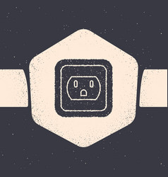Grunge electrical outlet in usa icon isolated vector
