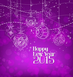 Happy new year Background With Christmas Ornaments vector