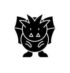 Horror black icon sign on isolated vector