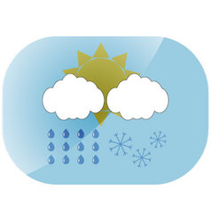 Icon weather app vector image