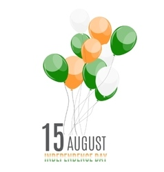 Indian Independence Day Background with Balloons vector image