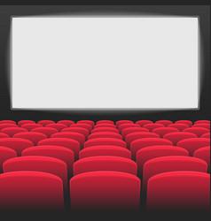 Interior of cinema movie theatre vector