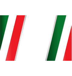 Italian flag frame background vector
