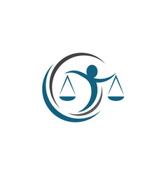 Lawyer logo template icon vector