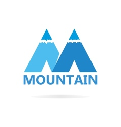 Logo of mountains in style of M vector image