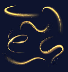 Magician light spiral glowing effects with sparks vector