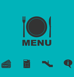 Menu icon flat vector
