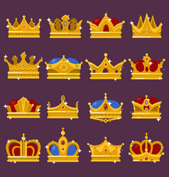 Monarch shining crown pope tiara queen headdress vector