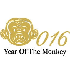 Monkey CalligraphyChinese Zodiac2016 New Year Of vector image