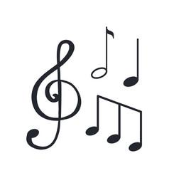 music notes sketches icons closeup melody design vector image