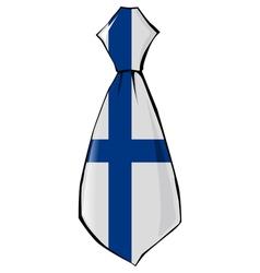 Necktie in national colours of Finland vector