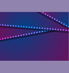 neon led lights blue violet abstract corporate vector image