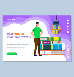 online learning service and electronic book vector image