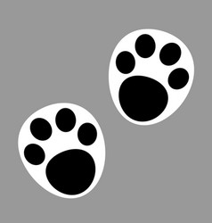 panda paw prints icon vector image