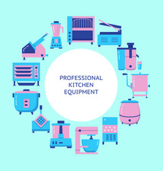 professional kitchen equipment concept banner in vector image
