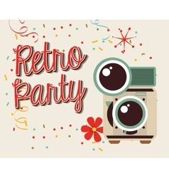 Retro party design vector