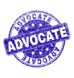 Scratched textured advocate stamp seal vector