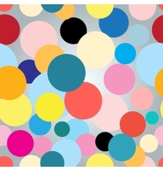 Seamless colorful graphic pattern with circles vector image