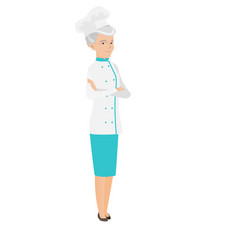 senior caucasian confident chef cook vector image