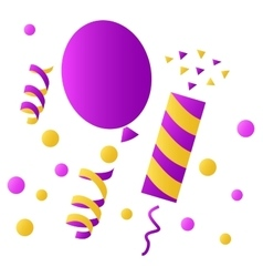 Set icons for birthday celebration vector