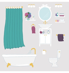 Set of bathroom and personal hygiene iconst vector image